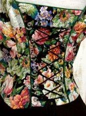 画像4: アンティークフラワー切り返しデザイン 大きなリボン装飾×ウエストリボン結び ディアンドル チロルワンピース ドイツ民族衣装 舞台 演奏会 フォークダンス オクトーバーフェスト 【5275】 (4)