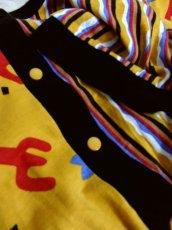 画像11: ヨーロッパ古着 レトロポップデザイン!! ストライプ×レトロプリント♪ 一着で個性的!! ヴィンテージオールインワン (11)