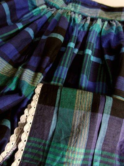 画像3: ☆ ヨーロッパ古着 チェック柄×ふんわり可愛い★大人ガーリーな雰囲気♪レトロなヴィンテージスカート ☆