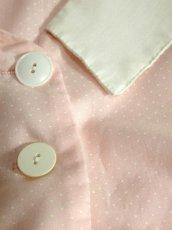 画像11: 大きな襟 ドット柄 ピンク ホワイト 半袖 レトロ USA古着 ヴィンテージワンピース【5334】 (11)
