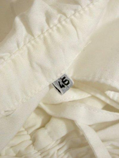 画像3: ショート丈 ホワイト フリルデザインが可愛い 胸元リボン ディアンドル ヴィンテージブラウス ドイツ民族衣装 舞台 演奏会 フォークダンス オクトーバーフェスト【5361】
