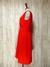 画像6: ヨーロッパ古着 ハッと目を引くレッドカラー×キラリと光るビジュー装飾がアクセント!! 大人ヨーロピアンヴィンテージドレス (6)