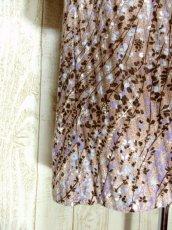 画像11: ヨーロッパ古着 大人っぽいレトロプリント×凹凸の効いたストライプデザインがお洒落★ ヨーロピアンヴィンテージワンピース (11)