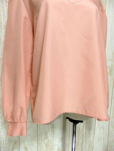 画像2: ぷっくり可愛らしいお花刺繍 ピンク ヨーロッパ古着 長袖 シャツ ヴィンテージトップス【5494】