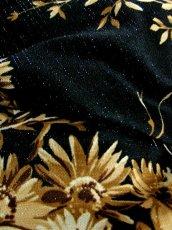 画像17: 70年代 花柄 ラメ フレア袖 ウエストリボン レトロモダン クラシカル ヨーロッパ古着 ヴィンテージマキシ丈ドレス【5516】 (17)