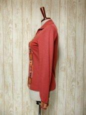 画像6: フォークロア刺繍装飾 綺麗なシルエットライン USA古着 長袖 シャツ ヴィンテージトップス【5528】 (6)