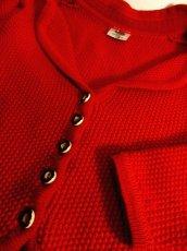 画像9: ☆ ヨーロッパ古着 袖にモコモコ編み模様×ふんわり袖が可愛らし〜い♪ 使い勝手が抜群!!★レトロガーリー チロルニットカーディガン ☆ (9)