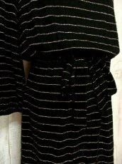 画像9: ヨーロッパ古着 キラリと光るビジューボタン装飾♪ 左肩・ウエストリボン結び!! お洒落な大人ヴィンテージドレス (9)