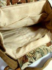 画像18: ゴブラン 犬模様 ポケットいっぱい レディースヨーロッパ古着 レトロ ヴィンテージ ショルダー 鞄 バッグ【5682】 (18)