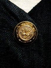 画像10: リネン 刺繍 ビーズ ブラック オーストリア製 パフスリーブ袖 前開き フォークロア クラシカル ディアンドル チロルワンピース ドイツ民族衣装 舞台 演奏会 フォークダンス オクトーバーフェスト 【5688】 (10)