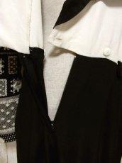 画像9: フォークロア模様 ドット柄 ブラック ホワイト 長袖 レトロ USA古着 ヴィンテージオールインワン 【5723】 (9)