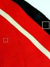 画像10: レトロアンティーク ヴィンテージスカーフ レトロポップフラワー レッド ネイビー ホワイト【5733】 (10)