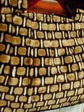 画像4: 2way スクエア柄 大きめサイズ 持ち手が可愛い  レディース レトロ ショルダー ハンド 鞄 バッグ【5742】 (4)