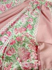 画像7: ☆ USA古着 アンティークフラワーパターン×Pinkリボンテープテープ×ホワイトレース装飾★ 大人レトロガーリーなヴィンテージスカート Pink ☆ (7)