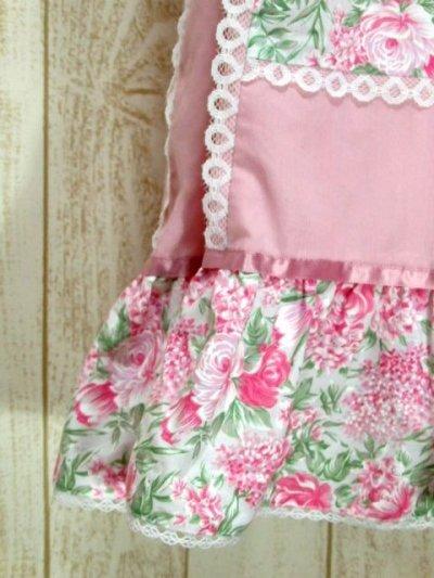 画像2: ☆ USA古着 アンティークフラワーパターン×Pinkリボンテープテープ×ホワイトレース装飾★ 大人レトロガーリーなヴィンテージスカート Pink ☆