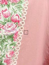 画像10: ☆ USA古着 アンティークフラワーパターン×Pinkリボンテープテープ×ホワイトレース装飾★ 大人レトロガーリーなヴィンテージスカート Pink ☆ (10)