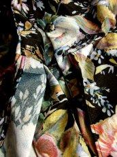 画像10: ティアードデザイン 花柄 ブラック 長袖 レトロ USA古着 ヴィンテージワンピース 【5807】  (10)