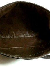 画像5: 馬柄 チェーン柄 イタリア製 ブラウン レザー レディース レトロ クラッチ 鞄 バッグ【2696】 (5)