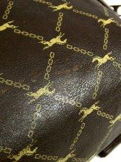 画像6: 馬柄 チェーン柄 イタリア製 ブラウン レザー レディース レトロ クラッチ 鞄 バッグ【2696】 (6)