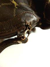 画像9: 馬柄 チェーン柄 イタリア製 ブラウン レザー レディース レトロ クラッチ 鞄 バッグ【2696】 (9)