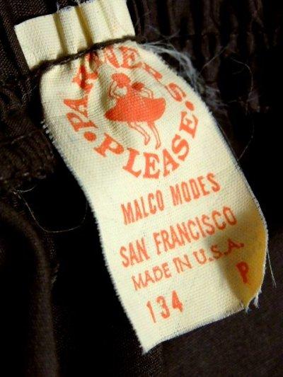 画像3: ブラウン 無地 ウエストゴム ホワイトレース ベーシック ガーリー レトロ USA古着 ヴィンテージサーキュラースカート【5826】