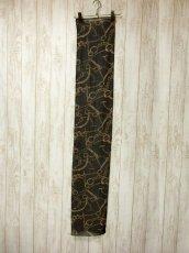 画像5: レトロアンティーク ヴィンテージスカーフ チェーン ブラック【5827】 (5)