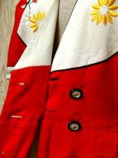 画像12: Helene Straber ドイツ製 主役級 花刺繍 バタフライ刺繍 チロルテープ レッド ホワイト バックウエストリボン 半袖 レトロ ガーリー ヨーロッパ古着 ヴィンテージワンピース【5867】 (12)