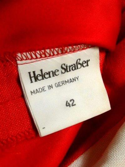画像3: Helene Straber ドイツ製 主役級 花刺繍 バタフライ刺繍 チロルテープ レッド ホワイト バックウエストリボン 半袖 レトロ ガーリー ヨーロッパ古着 ヴィンテージワンピース【5867】