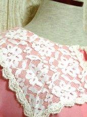 画像7: セーラー襟 レース フリル ピンク 長袖 レトロ ガーリー キュート USA古着 ヴィンテージドレス 【5880】 (7)