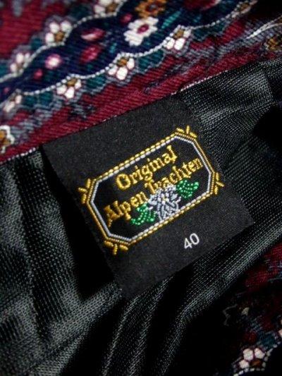 画像3: アンティークフラワー×ストライプ模様 ブラックレース装飾 ベルトSET チロルスカート ドイツ民族衣装 舞台 演劇 演奏会 フォークダンス オクトーバーフェスト 【5896】
