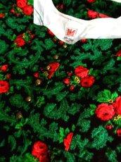 画像12: 花柄 グリーン ブラック コンチョボタン ノースリーブ クラシカル ディアンドル チロルワンピース ドイツ民族衣装 舞台 演奏会 フォークダンス オクトーバーフェスト 【5917】 (12)