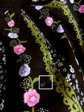 画像10: アンティークフラワー×ストライプ模様プリント♪綺麗なカラーバランス!!レース装飾 大人クラシカルなチロルスカート 【5920】 (10)