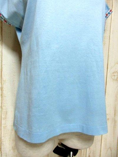 画像2: ヨーロッパ古着 爽やかなカラーリング 繡入りチロルテープ装飾が可愛い シャツ ヴィンテージトップス【5927】