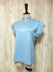 画像2: ヨーロッパ古着 爽やかなカラーリング 繡入りチロルテープ装飾が可愛い シャツ ヴィンテージトップス【5927】 (2)