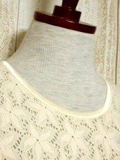 画像3: USA古着 透かし編みデザインが可愛い 明るめの生成りカラー シャツ ブラウス 大人ガーリー ヴィンテージトップス【5984】 (3)