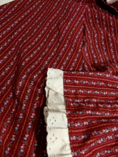 画像3: ☆ USA古着 ガーリーな小花柄ストライプ模様にうっとり♪レース装飾×リボンテープ装飾★大人レトロガーリーなふんわりヴィンテージスカート ☆