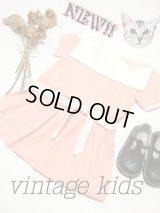 ☆ ヨーロッパ古着 フランス買い付け vintageキッズ セーラー襟が可愛いvintageワンピースsize100cm kids&baby ☆