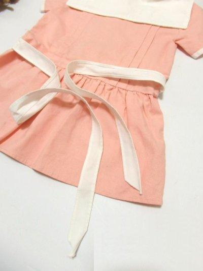 画像2: ☆ ヨーロッパ古着 フランス買い付け vintageキッズ セーラー襟が可愛いvintageワンピースsize100cm kids&baby ☆