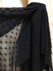 画像7: ☆ ヨーロッパ古着 レイヤードデザインが素晴らしい!!キラリと光るラメ入り装飾★大人レトロクラシカルな上質ヴィンテージスカート Black ☆ (7)
