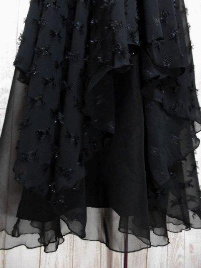 画像2: ☆ ヨーロッパ古着 レイヤードデザインが素晴らしい!!キラリと光るラメ入り装飾★大人レトロクラシカルな上質ヴィンテージスカート Black ☆