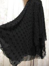 画像4: ☆ ヨーロッパ古着 レイヤードデザインが素晴らしい!!キラリと光るラメ入り装飾★大人レトロクラシカルな上質ヴィンテージスカート Black ☆ (4)