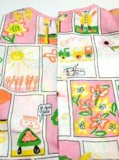 画像6: ☆ ヨーロッパ子供古着 vintageキッズ お絵かきプリント柄が可愛い ヴィンテージワンピース size130cm kids&baby ☆ (6)