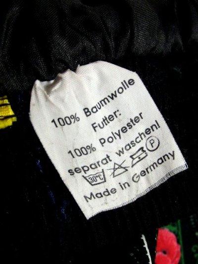 画像3: ドイツ製 ストライプ状のアンティークフラワープリントが素晴らしい チロルスカート ドイツ民族衣装 舞台 演劇 演奏会 フォークダンス オクトーバーフェスト 【6098】
