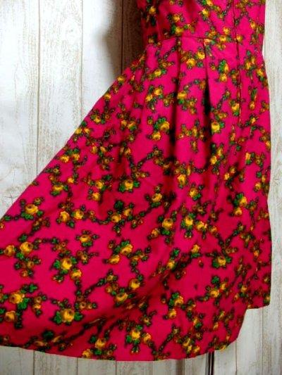 画像2: 花柄 チェーン フロントジッパー ノースリーブ クラシカル ディアンドル チロルワンピース ドイツ民族衣装 舞台 演奏会 フォークダンス オクトーバーフェスト 【6114】
