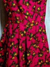 画像8: 花柄 チェーン フロントジッパー ノースリーブ クラシカル ディアンドル チロルワンピース ドイツ民族衣装 舞台 演奏会 フォークダンス オクトーバーフェスト 【6114】 (8)