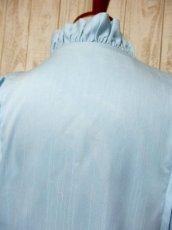 画像12: フリル バルーン袖 ライトブルー フリル ガーリー クラシカル ディアンドル チロルブラウス ドイツ民族衣装 舞台 演奏会 フォークダンス オクトーバーフェスト 【6163】 (12)