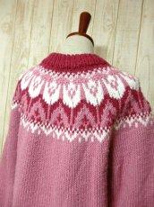 画像6: ☆ ヨーロッパ古着 暖か可愛い★LovelyなPink Color×チューリップ柄♪ざっくり着こなせるレトロガーリーなニットセーター ☆ (6)