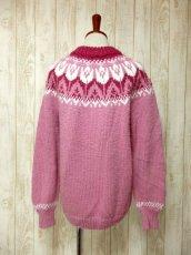 画像5: ☆ ヨーロッパ古着 暖か可愛い★LovelyなPink Color×チューリップ柄♪ざっくり着こなせるレトロガーリーなニットセーター ☆ (5)