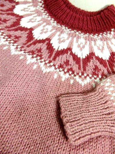 画像3: ☆ ヨーロッパ古着 暖か可愛い★LovelyなPink Color×チューリップ柄♪ざっくり着こなせるレトロガーリーなニットセーター ☆