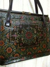 画像3: 花型押し 彫り カービング レザー レディース レトロ ヴィンテージ ハンド 鞄 バッグ【6190】 (3)
